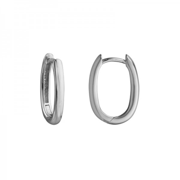 Silver Hinged Small Hoop Earrings