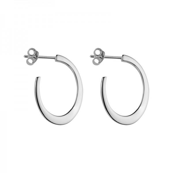 Silver J Hoop Earrings