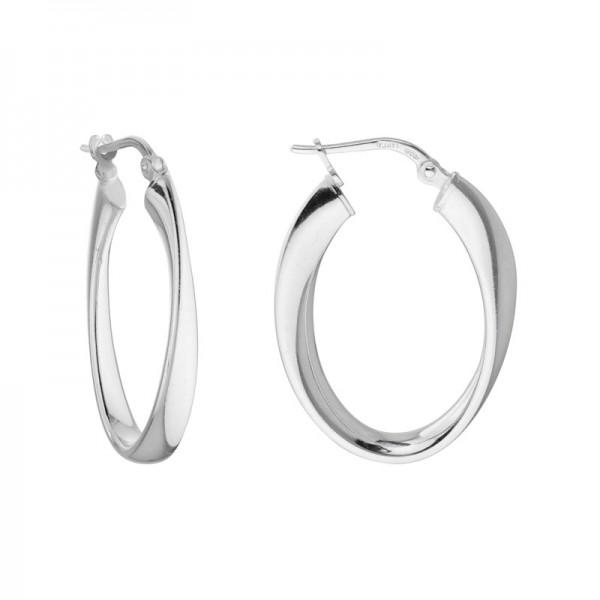 SS Twisted Hoop Earrings