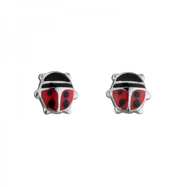 SS Ladybug Stud Earrings