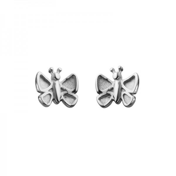 Silver Children's Butterfly Stud Earrings