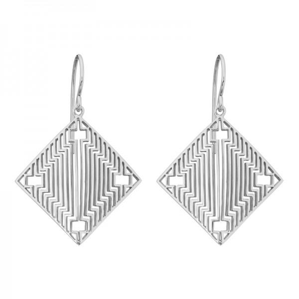 Silver Deco Earrings