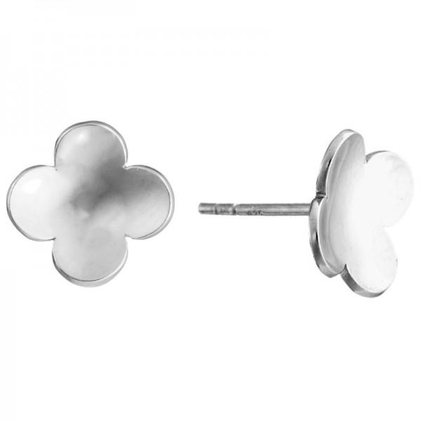 SS Flower Stud Earrings