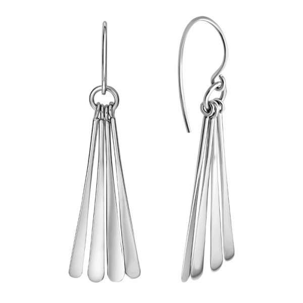 SS Long Teardrop Dangle Earrings