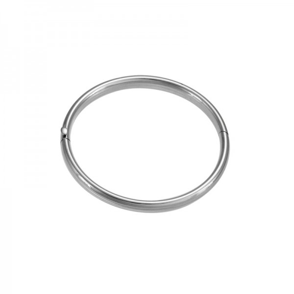 Silver-Rhodium Toddler Bangle Bracelet,Hinged