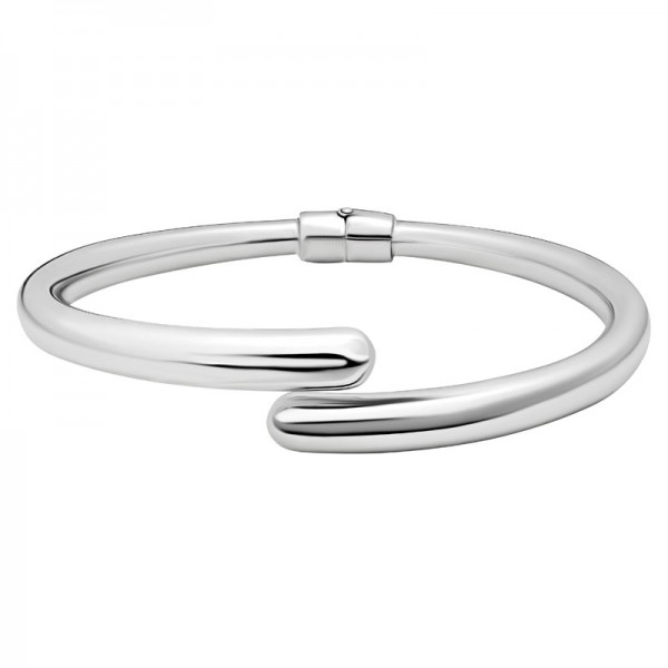 Sterling Silver Hinged Tapered Bangle