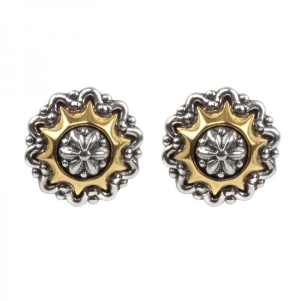 Women's  Astria Collection Silver & 18KY Gold Supernova Earrings