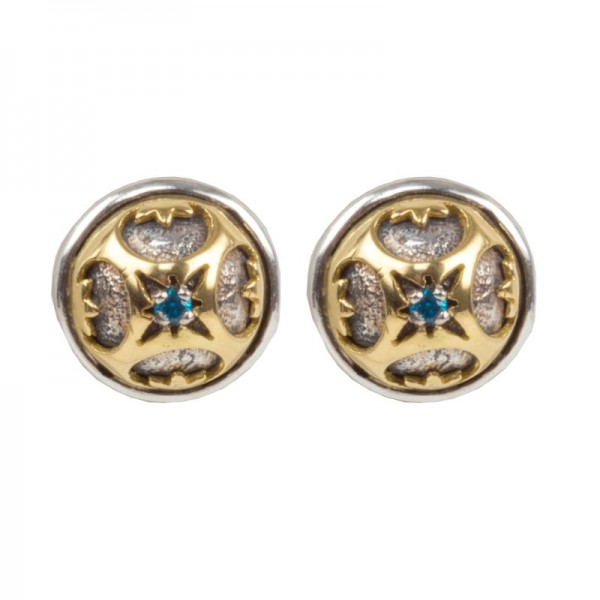 Women's  Astria Collection Silver & 18KY Gold Orbiting Earrings