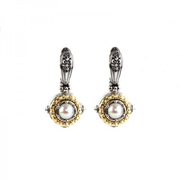 Women's Sterling Silver & 18KY Gold Pearl Drop Earrings