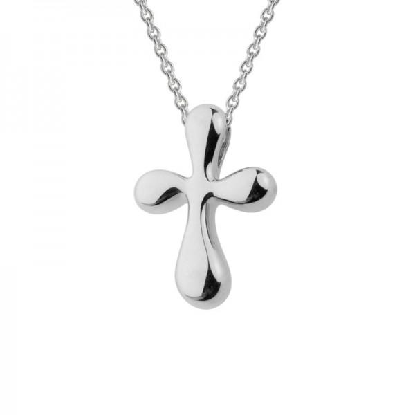 Silver Teardrop Cross Pendant