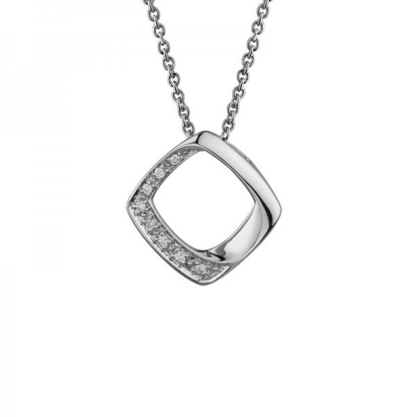 SS Round Diamond Necklace