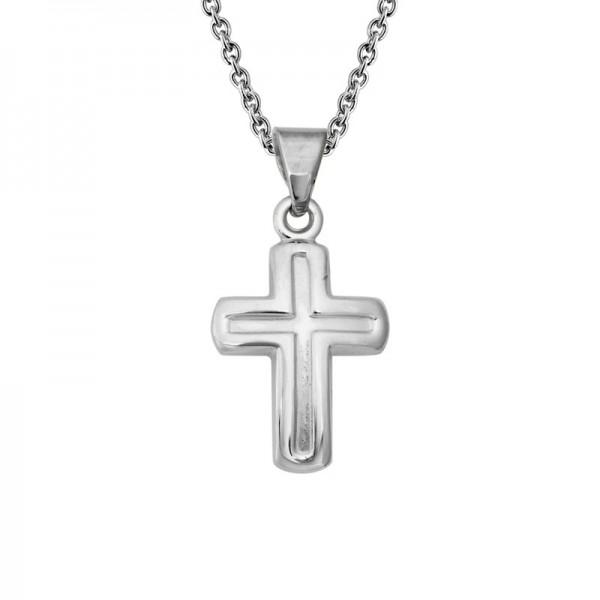 Silver Matte finish Crosse Pendant