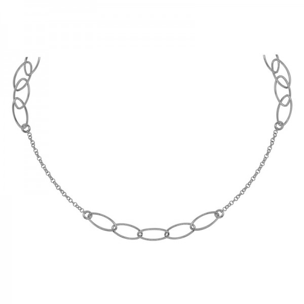 SS Oval Link Fashion Necklace