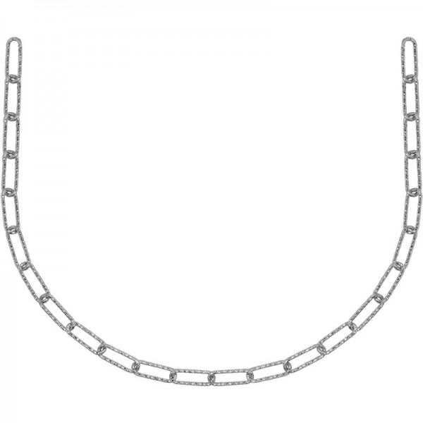 SS Rectangular Link Necklace