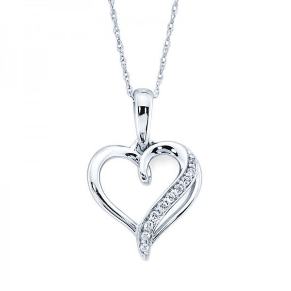 SS Diamond Heart Pendant