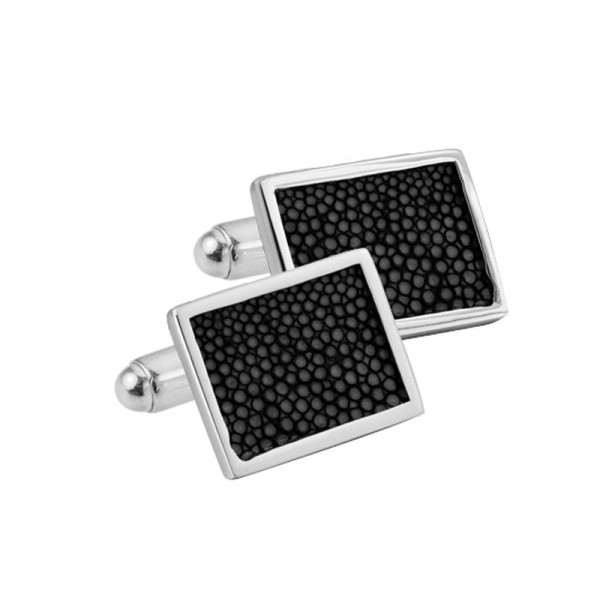 Silver Stingray Inset Cufflinks