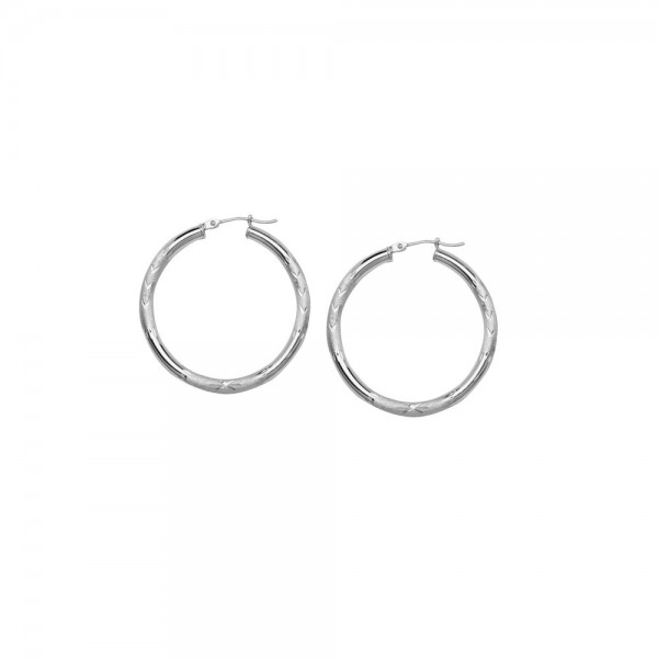 14KW Hoop Earrings Florentine