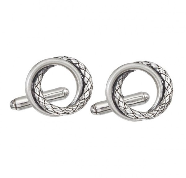 Sterling Silver Interlocking Circle Cufflinks