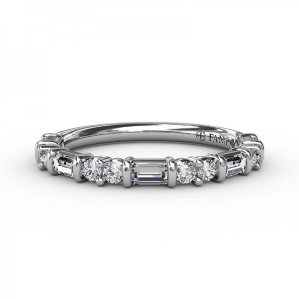 This beautiful diamond wedding band is designed to match engagement ring style S3320