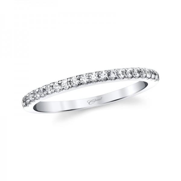 14KW Fishtail Set Diamond Wedding Band