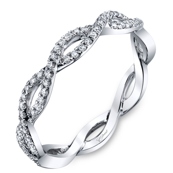 14KW Scalloped Diamond Wedding Band