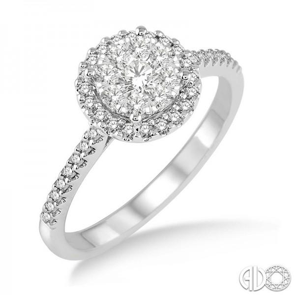14k White Gold .50ct tw LoveBright Diamond Ring