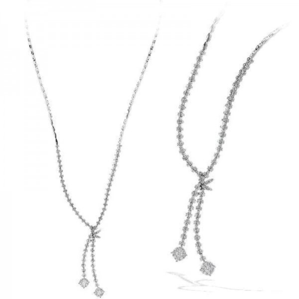 Ryan Gems14K White Gold Diamond Necklace