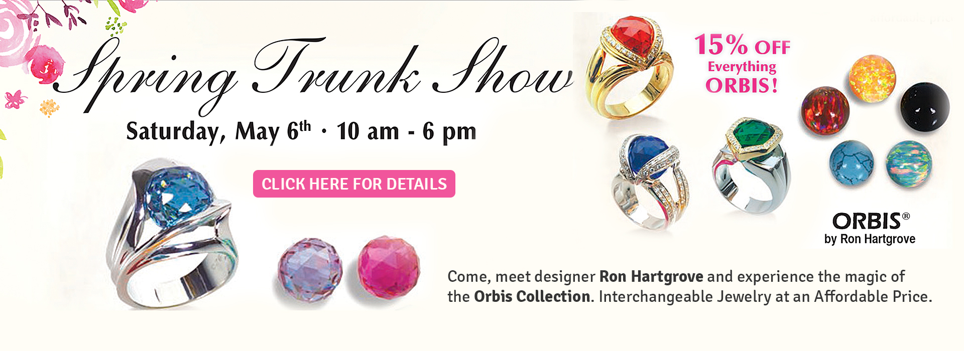 Orbis Trunk Show May 2nd