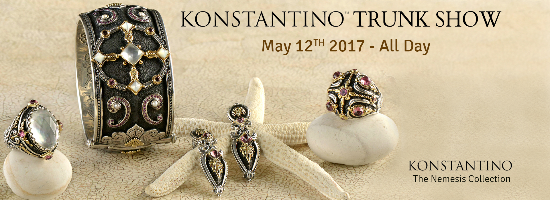 Konstantino Trunk Show! One Day Only Event