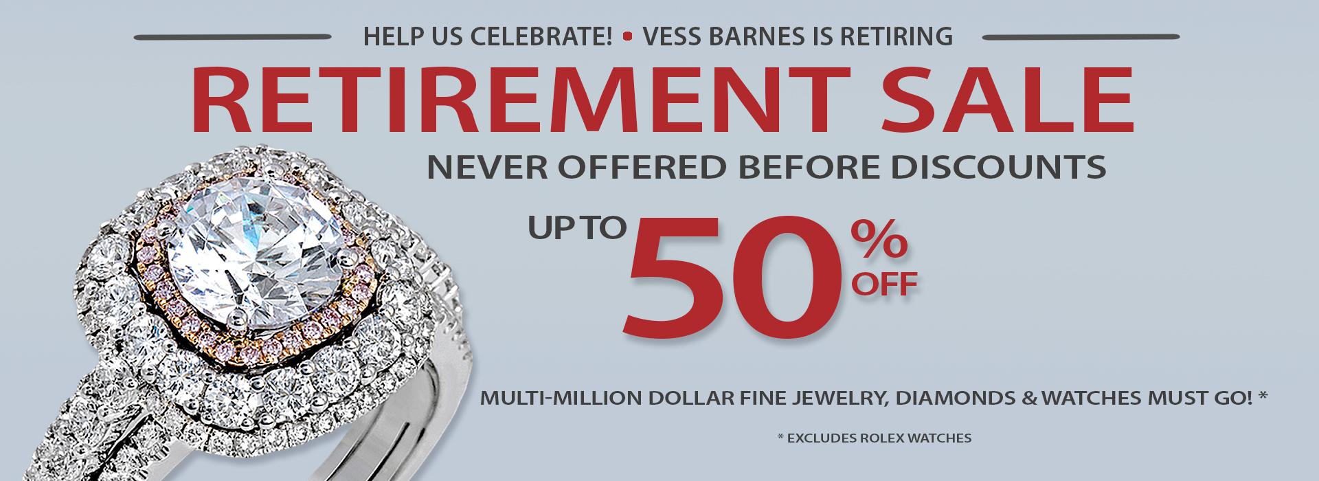 Vess Barnes Retirement Sale!